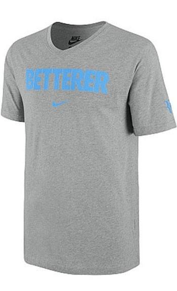 86b9bca4 Теннисная футболка Nike M RF Betterer Vneck Tee Gr 2014 Выгодно в ...