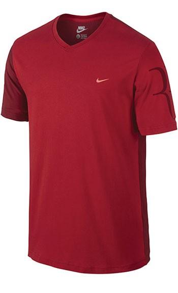 0903ffee Теннисное поло Nike M Rf Ss Vneck Tee Выгодно в KVADRATIK